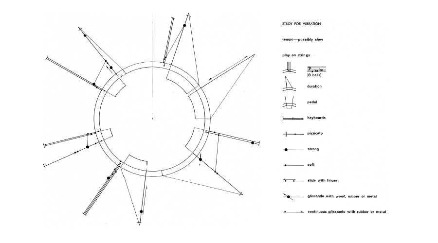 graphic scores Toru Takemitsu, Study for Vibration