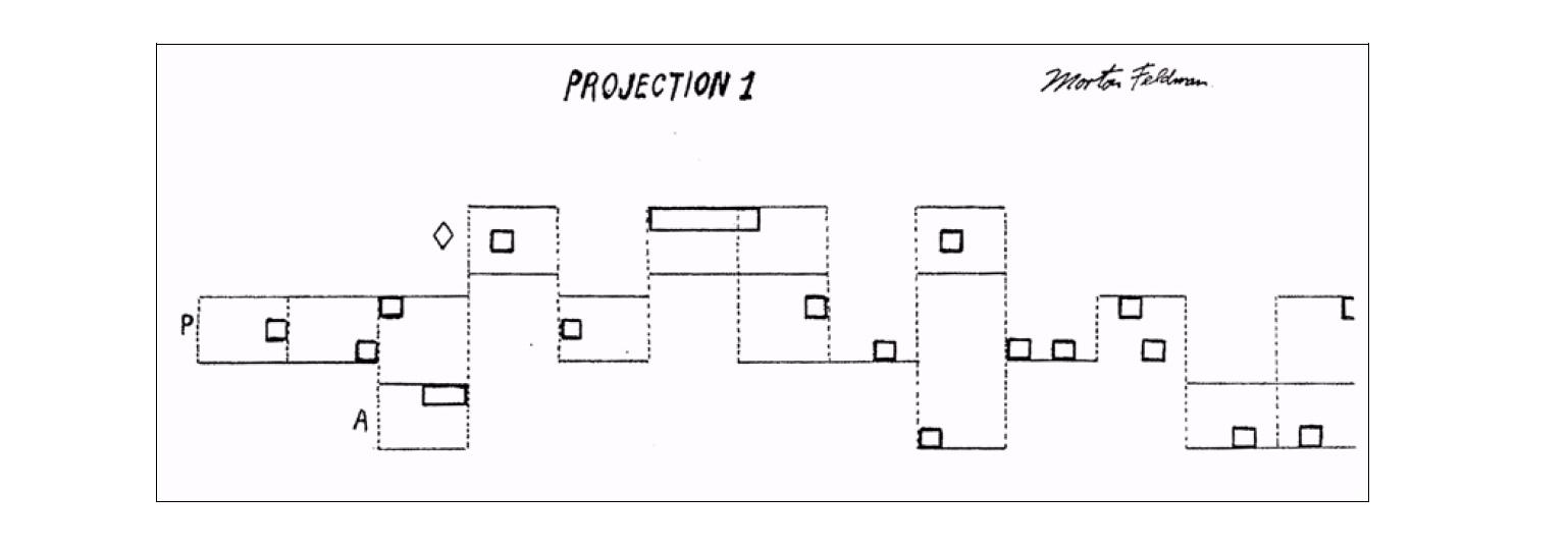 Morton Feldman - Projection 50 graphic score